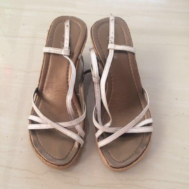 REPRICED! Abaca Criss Cross Sandals