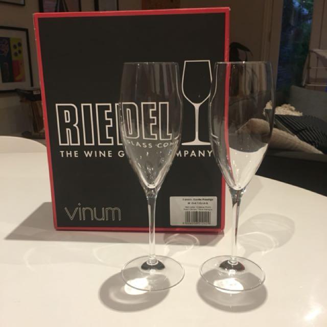 Riedel Vinum Champagne Glasses x2