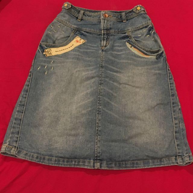 Rok Jeans Jepang - size S