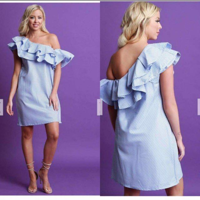 Semi off checkered dress