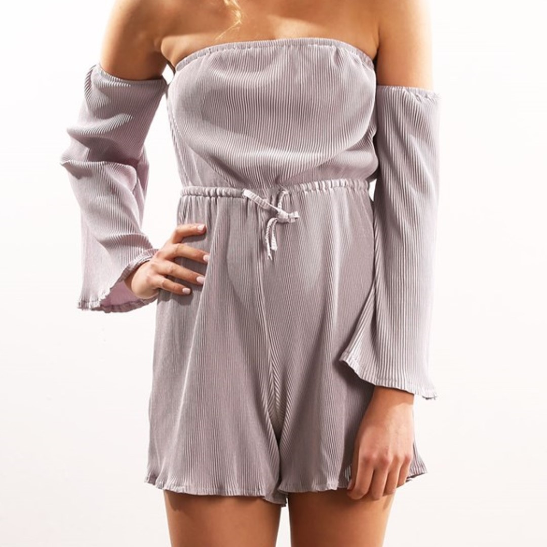 silver crinkle playsuit