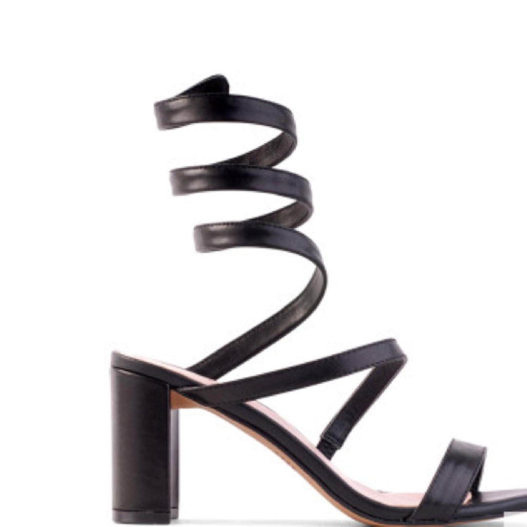 Siren Black Leather Shoes