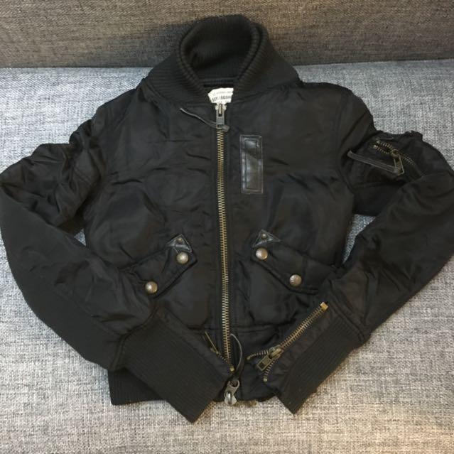 SLY雙層鍊短版帥氣外套