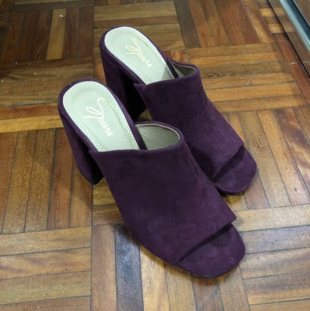 Spur Size 6 Mule Dark Purple