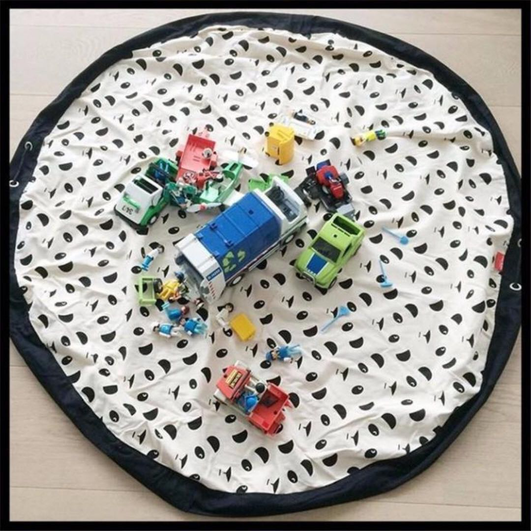 ✓️STOCK - BN MOUSTACHE PLAY MAT \u0026 TOY STORAGE BAG CLEAN UP LEGO ...