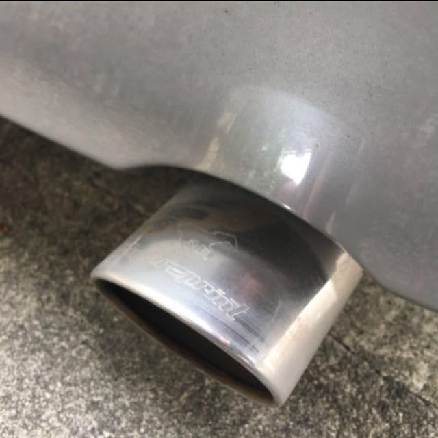 Superspint exhaust on lancer glx/cs3