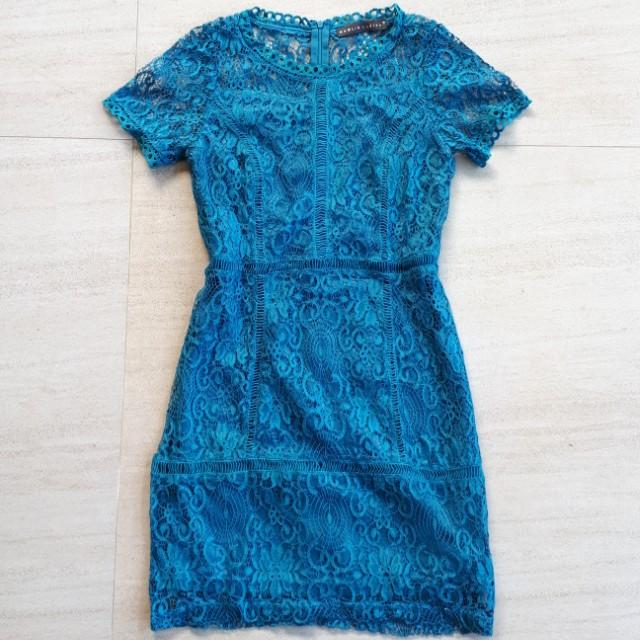 Teal Lace Dress Samlin