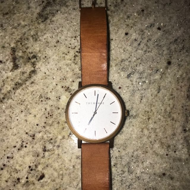The Horse Watch Gold With Tan Leather