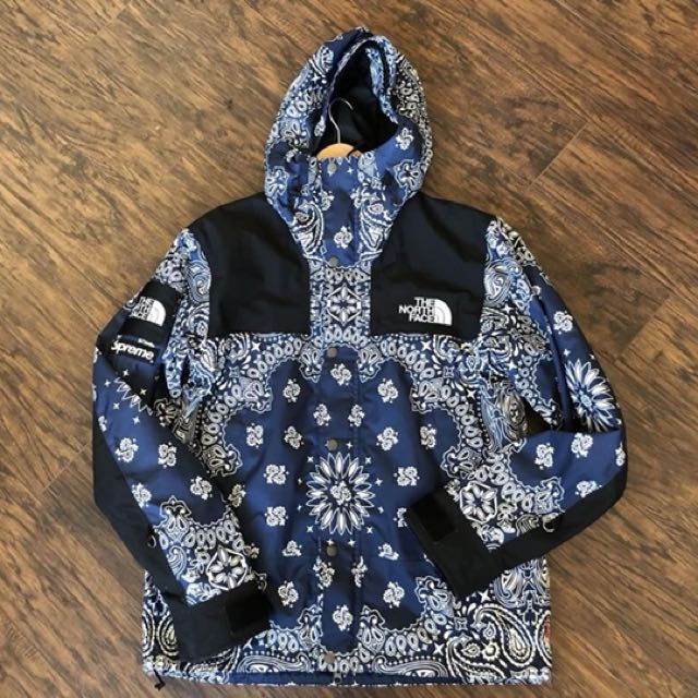 The North Face X Supreme Bandana Jacket In Blue Men S Fashion