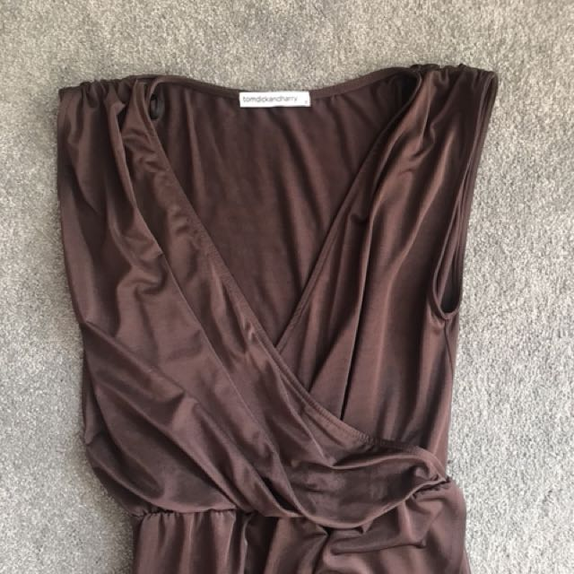 Tom Dick and Harry chocolate brown Grecian Maxi 8