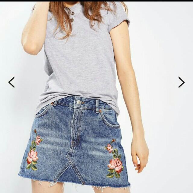 Topshop embroider skirt