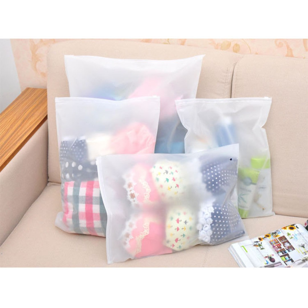 Transparent Travel Storage Bag For Clothing Underwear Socks Toiletry Kit B13707