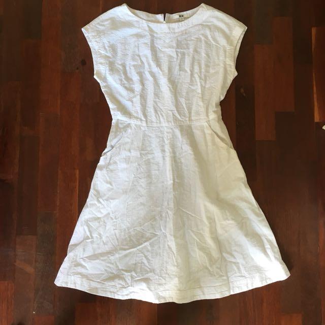 Uniqlo white dress