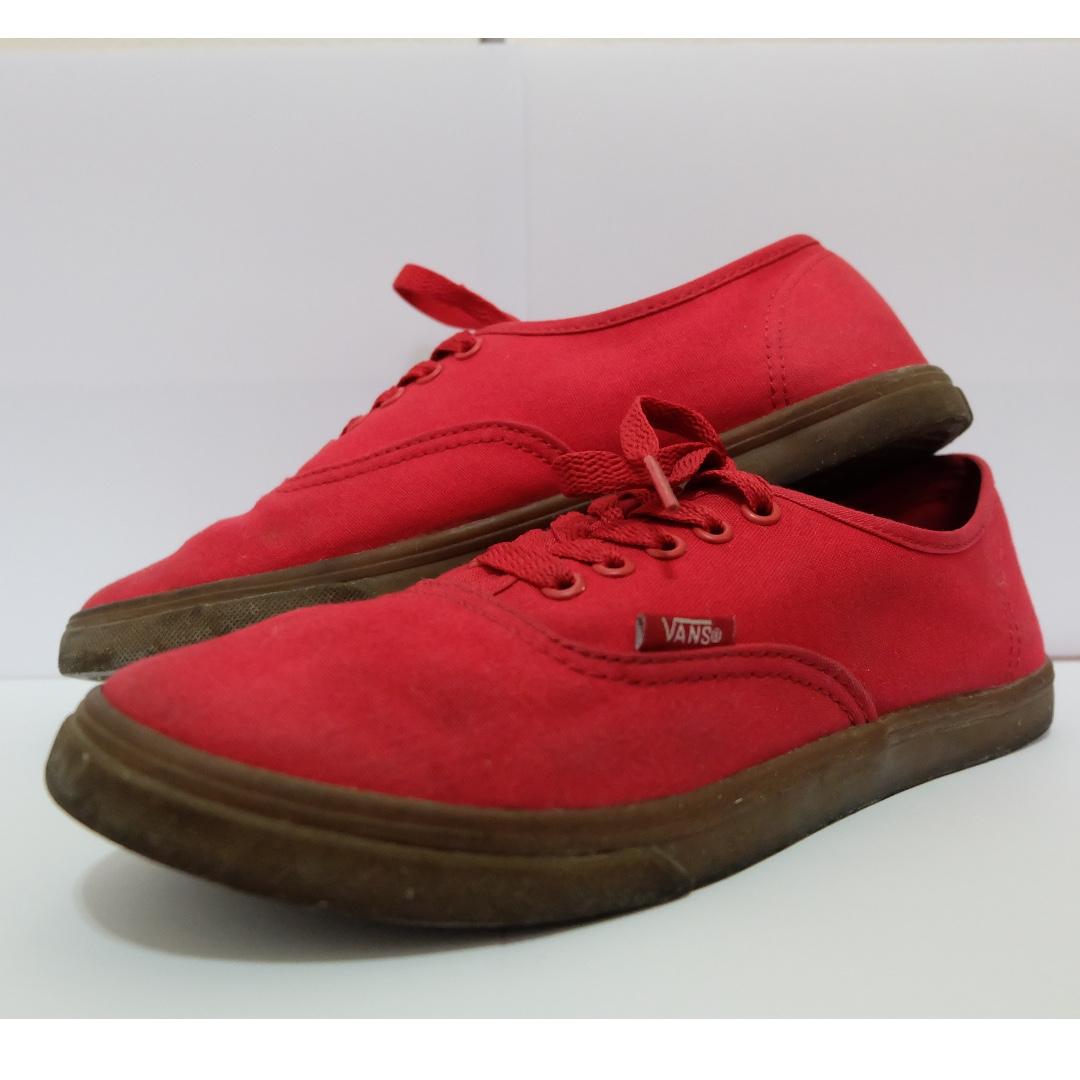 4e2db2f356 Vans Authentic Lo Pro Red Gum Sole
