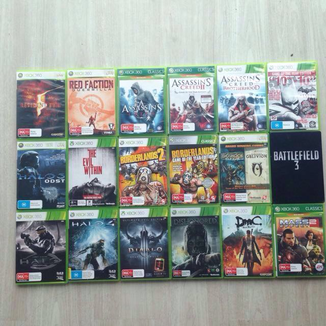 Xbox 360 Console, 16 games, 3 controllers
