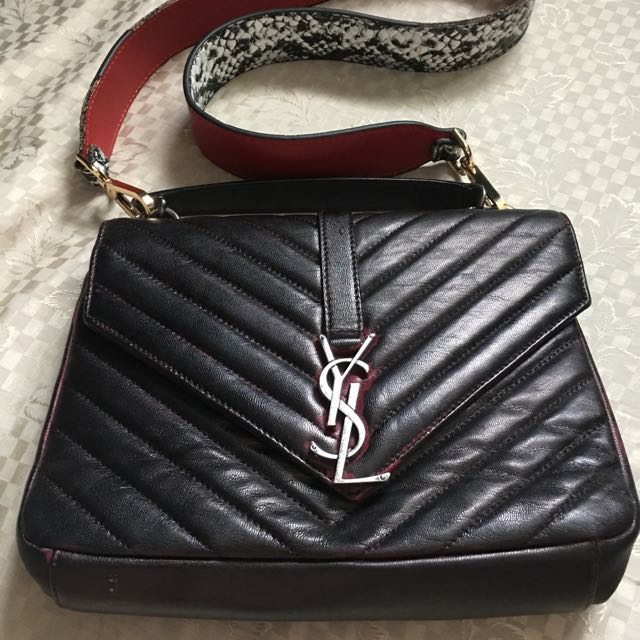 YSL DISTRESSED LEATHER