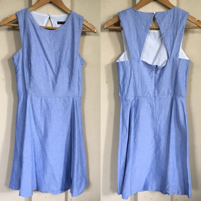 Zara denim cotton dress