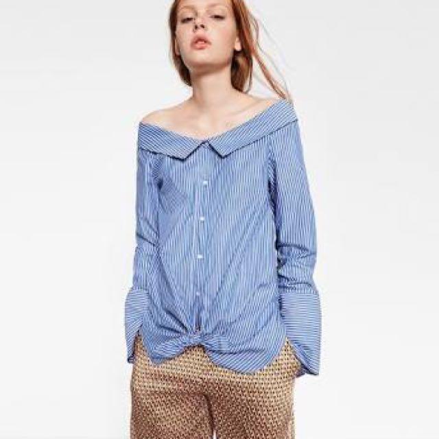 Zara Off shoulder Shirt