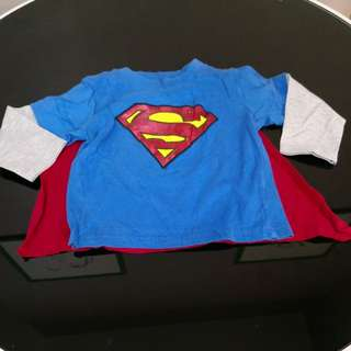 Superman Outfit Shirt (18-24m)
