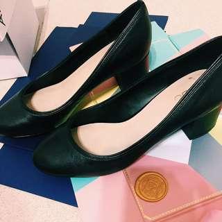 🚚 ALDO 黑色粗根鞋