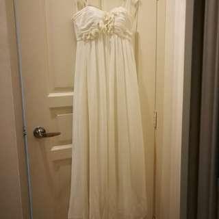 Evening White Dress
