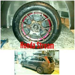 Tyre 205/60 R16 Membat on Honda Stream 🐓 Super Offer 🙋♂️