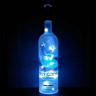 Grey Goose Vodka Bottle w/ Pure White Fairy Lights (1l)