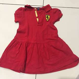 Ferrari red hot dress (with collars)