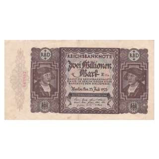 德國紙幣 2000000 馬克