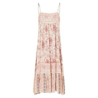Cast Your Spell In This Gypsy Print Zahara Midi Dress RoseWater. Large bnwt rayon boho hippy gypsy