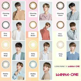 Wanna One x Lensnine contact lens
