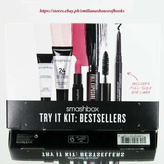 4PC SMASHBOX TRY IT KIT BEST SELLERS MAKEUP COSMETICS TRAVEL SIZE + 1 FULL SIZE