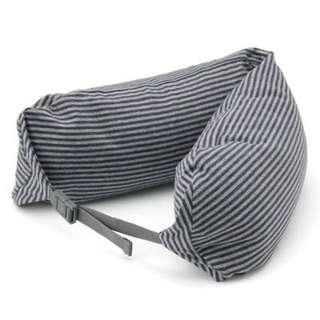 日本【MUJI無印良品】微粒貼身靠枕(頸枕/U型枕)