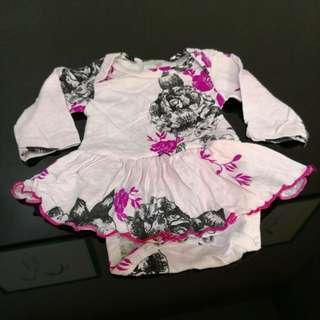 Floral Design Pink Dress (6m)