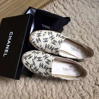 Chanel monogram espadrilles slip on Shoes 草鞋漁夫鞋