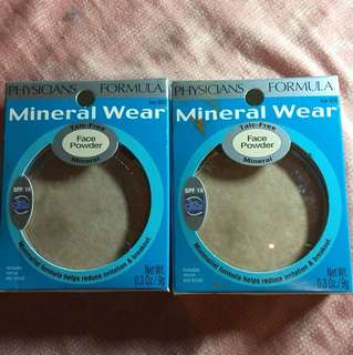 Face powder Mineral Wear