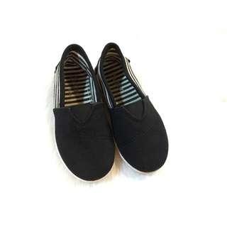 Black slip on shoes