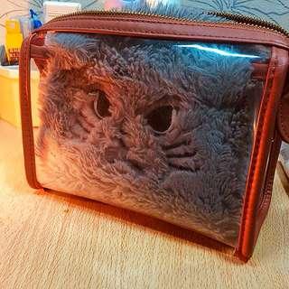透明化妝包送灰毛貓🌚