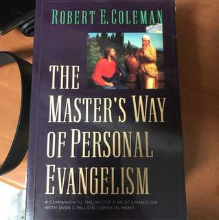 Choose 5 items for $15: The Master's Way of Personal Evangelism
