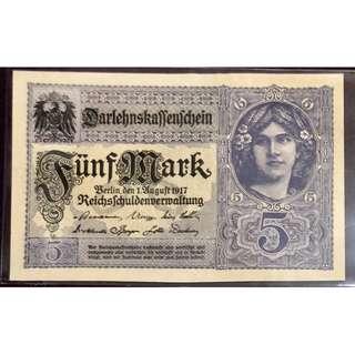 德國紙幣 aUNC