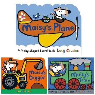 Maisy's 系列 英國版 現貨 小鼠波波 硬頁造型書 童書 原文