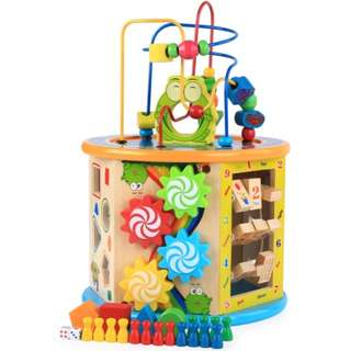 BN Wooden 8-in-1 Functional Activity Cube