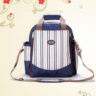 ❤ On-hand: Multifunctional Baby Changing Diaper Bag  Mommy Nursing/ Maternity( Blue Stripe)