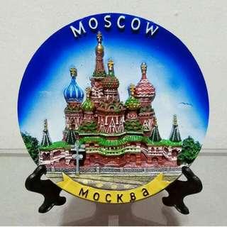 Pajangan Piring Timbul Moscow Mockba
