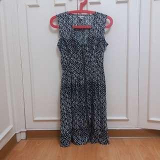 H&M patterned zip up dress