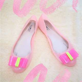 Baby Pink Jelly Flats [US 10 - Fit To US 9]