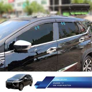 Mitsubishi Xpander Talang Air Mobil Model Injection  Side Visor. Warna : Hitam. Berat : 2,5kg.