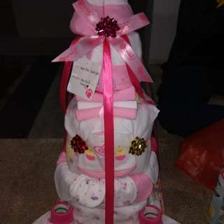 Cake 3tier Baby Diapers