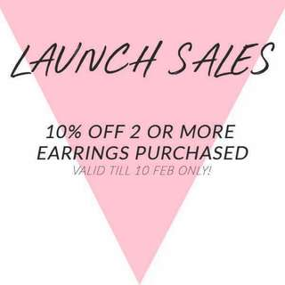 LAUNCH SALES!!