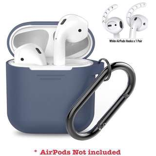 AhaStyle AirPods Silicone Case and 1 pair of AirPods Hooks